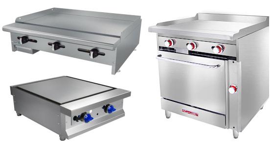 Planchas para cocina industrial y Restaurantes