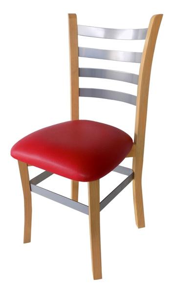 silla para restaurante 160 en madera y acero