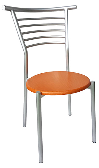 silla para restaurante 2118 en madera y acero
