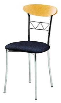 silla para restaurante 2640 en madera y acero