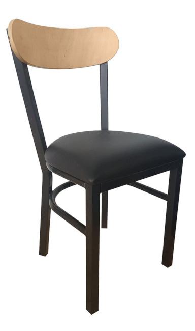 silla para restaurante 2690 en madera y acero