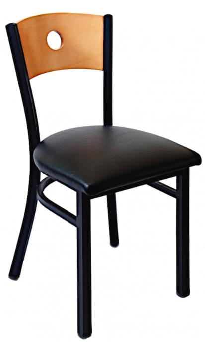 Silla de acero y madera para restaurante 6490