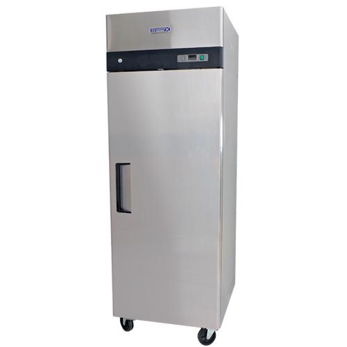 007 1 Congelador Profesional Acero Inoxidable CVS-124-S con 1 puerta sólida, 3 parrillas plastificadas y un volúmen interior de 24 ft³