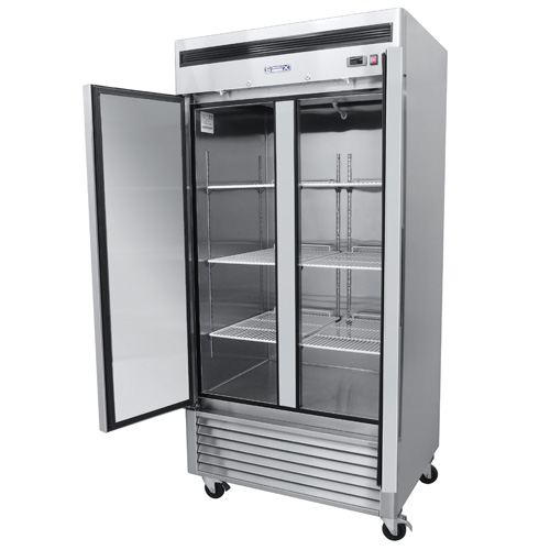 014 1 Congelador vertical con 2 puertas solidas,6 parrillas plastificadas y un volúmen interior:35 ft³