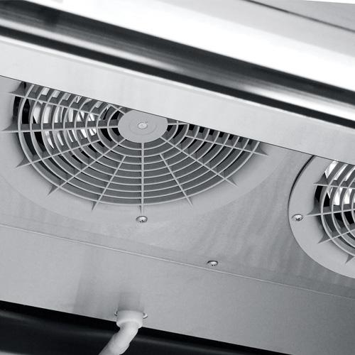015 Congelador vertical con 2 puertas solidas,6 parrillas plastificadas y un volúmen interior:35 ft³