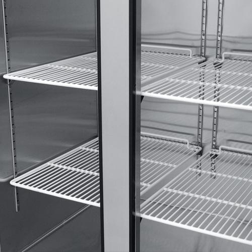 016 Congelador vertical con 2 puertas solidas,6 parrillas plastificadas y un volúmen interior:35 ft³