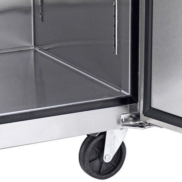 024 1 Congelador vertical con 2 puertas solidas, 6 parrillas plastificadas y un volumen interior de 47 ft³