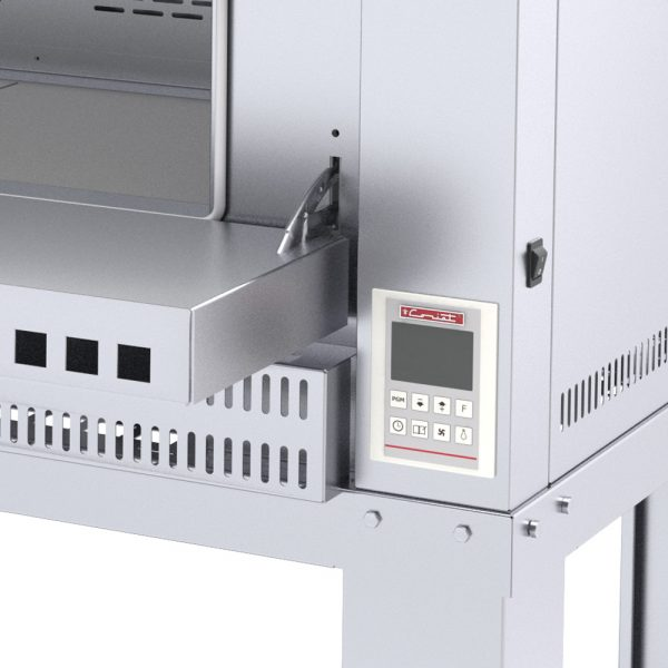 333 Horno Para PIZZA-4 MASTER. Fabricado Totalmente en Lamina de Acero Inoxidable tipo 430. A Gas con Compartimiento para 4 pizzas de 40 cms de Díametro, piso refractario, controlado por un Termostato Digital. 1 termostato digital, rango de 100 a 350°c. 2 quemadores tubulares en acero inoxidable 4 pisos cerámicos de alta concentración de temperatura. Frente: 1.350 m Fondo: 1.220 m Alto: 1.220 m