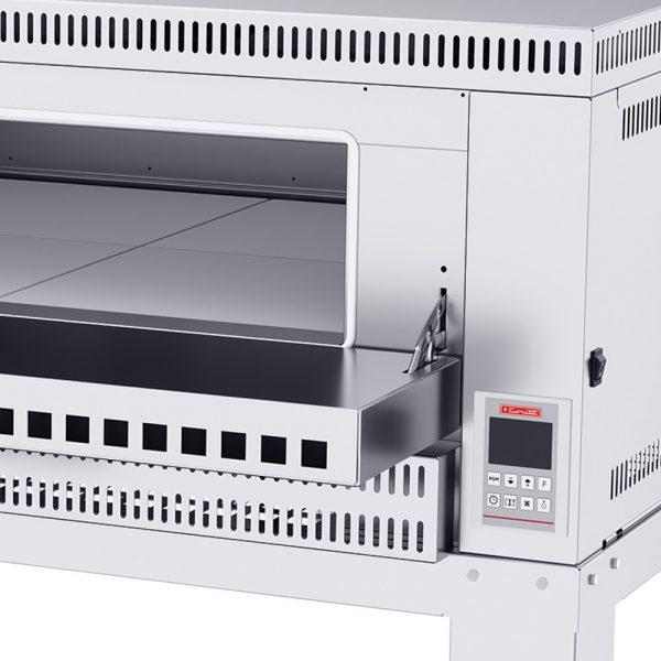 341 El Horno de PIZZA-6 MASTER se fabrica totalmente en lámina de Acero Inoxidable tipo 430. Su funcionamiento es a gas, con compartimiento para 6 pizzas de 40 cms de Díametro. Con piso refractario. El horno profesional para Pizza 6, es controlado por un Termostato Digital para lograr la repetición perfecta de su receta original. 1 termostato digital, rango de 100 a 350°c. 3 quemadores tubulares en acero inoxidable. 6 pisos cerámicos de alta concentración de temperatura. Frente: 1.700 m Fondo: 1.040 m Alto: 1.440 m Regresar a Hornos para Pizza