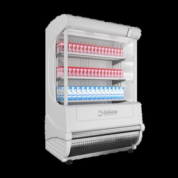 VRA 23 Conservación y Venta de Productos Alimenticios Diseñada para la guarda y exhibición de Dulces, Lácteos, Frutas y Pasteles. Los Murales Refrigerados Fundador es la mejor opción para el lucimiento y exhibición de sus productos.