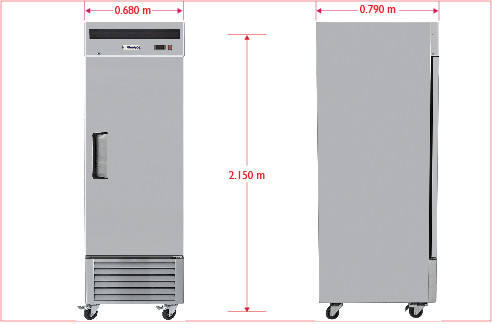 a006 Congelador vertical con 1 puerta sólida , 3 parrillas plastificadas y un volumen interior de 14 ft3.