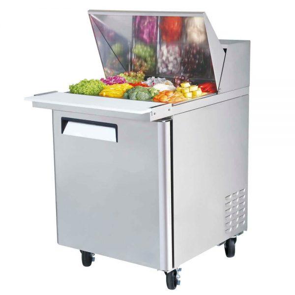 a035 Mesa Refrigerada para prepararsándwichesy ensaladas, con 1 puerta solida, 1 parrilla plastificada y volumen interior de 6 ft³ / 166 lt