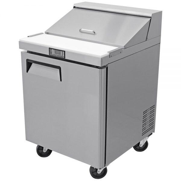 a036 Mesa Refrigerada para prepararsándwichesy ensaladas, con 1 puerta solida, 1 parrilla plastificada y volumen interior de 6 ft³ / 166 lt