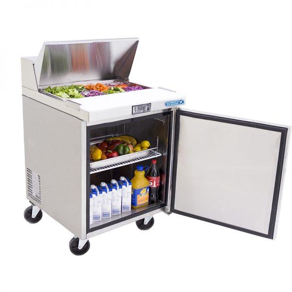 a037 Mesa Refrigerada para prepararsándwichesy ensaladas, con 1 puerta solida, 1 parrilla plastificada y volumen interior de 6 ft³ / 166 lt