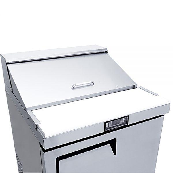 a039 Mesa Refrigerada para prepararsándwichesy ensaladas, con 1 puerta solida, 1 parrilla plastificada y volumen interior de 6 ft³ / 166 lt