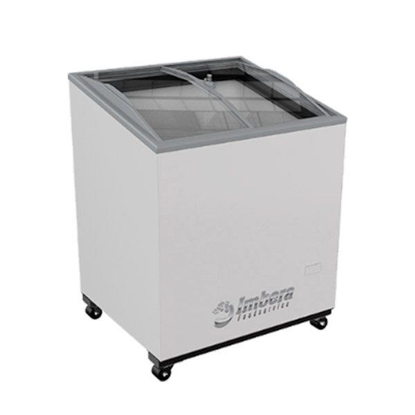 c026 Conservador de Congelados con Puertas Curvas Corredizas que permiten el fácil acceso a los Productos Almacenados.