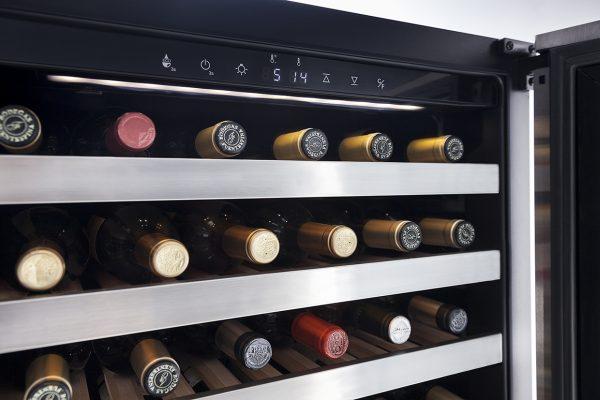 cava vinos CV120 T 4 Cava Profesional para 120 Botellas de Vino de Doble Temperatura