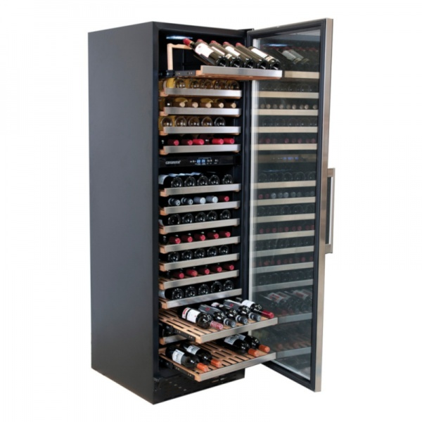 cava vinos cv168 2 F 1 Cava Profesional para 168 Botellas de Vino de Doble Temperatura