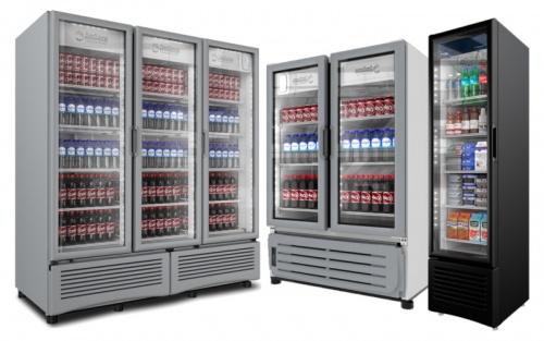 Refrigeradores Verticales Puerta de Cristal Comerciales
