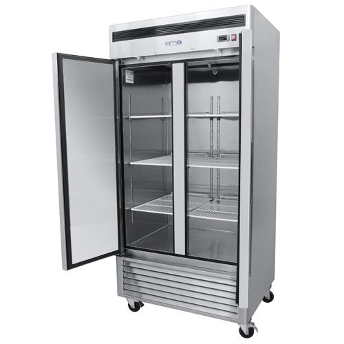 5b74953954e95 Refrigerador Profesional en Acero Inoxidable RVS-235-S. De 2 Puertas Sólidas, 6 Parrillas Plastificadas y Capacidad de 35 pies cúbicos.