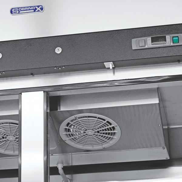 5b7aa0efeb806 Refrigerador Profesional de Acero Inoxidable RVS-247-S. Con Dos Puertas Sólidas, 6 Parrillas Plastificadas y Capacidad de 47 pies cúbicos.
