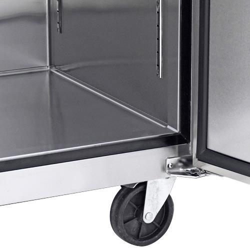 5b7aa0feea03e Refrigerador Profesional de Acero Inoxidable RVS-247-S. Con Dos Puertas Sólidas, 6 Parrillas Plastificadas y Capacidad de 47 pies cúbicos.