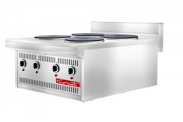 PCV 4E 1 Parrilla Eléctrica Industrial de 4 Quemadores Fabricada Completamente en Acero Inoxidable