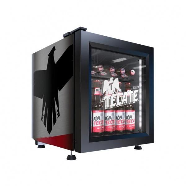 VR0 9 baby cooler tecate Refrigerador Comercial Industrial VR-0.9 Enfriador para colocarse sobre mostrador, ideal para apoyar lanzamientos o promociones.