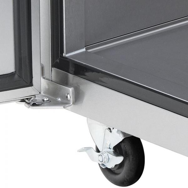 cool and freeze 4 Cool And Freeze Congelador y Refrigerador con 2 Puertas Sólidas, 6 Parrillas Plastificadas y un volumen interior de 30 Pies Cúbicos