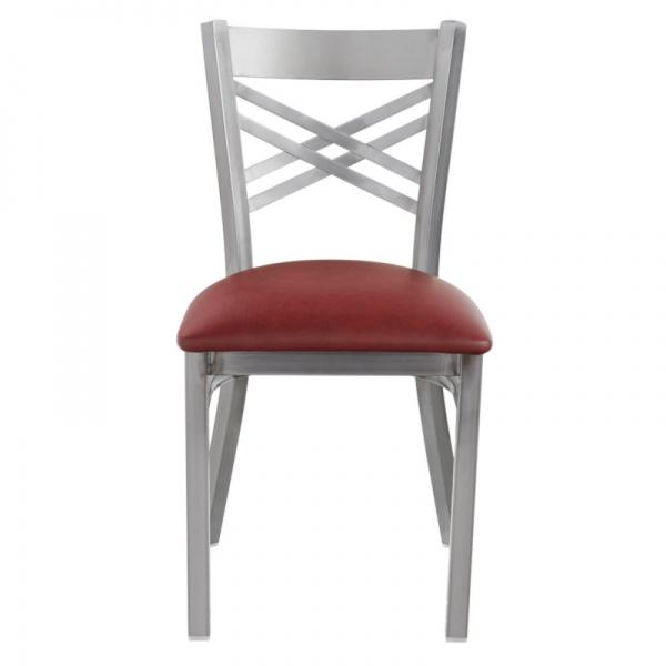 6018 roja Silla de Acero 6018 Fabricada en Acero Calibre 18 con asiento acojinado y tapizado. Esmaltada electrostáticamente. Colores de estructura y tapiz son a elección del Cliente.