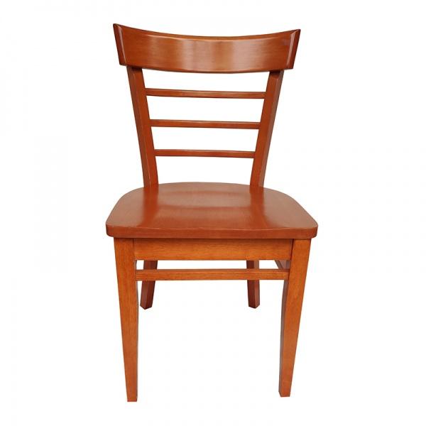 TMH67 800X800 La Silla de Madera para Restaurante TMH67 se fabrica completamente en Madera. Su respaldo es con travesaños de madera curva y el asiento de madera sólida.Los Colores de la Madera son a elección del Cliente.* El asiento puede ser acojinado y tapizado en vinil o tela.Regresar a Sillas de Madera
