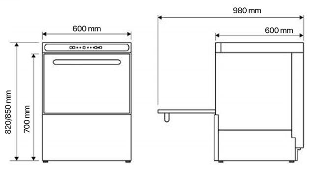 easy 500 lavavajillas 3 La Lavavajillas Industrial EASY-500 de la Serie EASY WASH ha sido diseñada para lavar, desengrasar, desinfectar y abrillantar vasos y platos con gran facilidad. El panel de control electromecánico proporciona un programa de lavado de sólo 120 segundos, pero suficiente para garantizar una eficaz limpieza de la mayor suciedad. Estos lavavajillas están diseñados para cestas de 500mmx500mm con un espacio libre de 320mm, para lavar una amplia variedad de vasos y platos. Especialmente diseñados para el uso en bares, pubs, restaurantes, etc. Accesorios suministrados: 1 cesta CP-16/18, 1 cesta CT-10 y 1 cubilete para cubiertos CU-7. Producción cestas/hora: 30 Ver más Lavavajillas Aquí