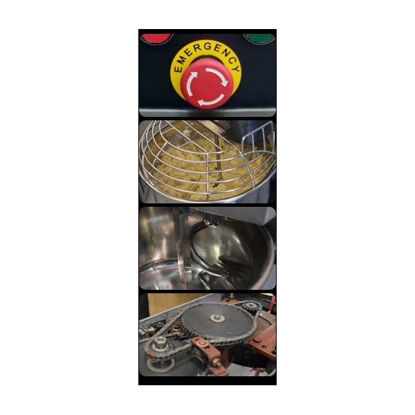 hs 25 vistas Amasadora Profesional HS-65 Litros fabricada en hierro fundido con Tazón y Accesorios en Acero Inoxidable. Por su alto estándar de rendimiento son ideales para masas pesadas obteniendo excelentes resultados para las producciones de su panadería, restaurante y pizzería.