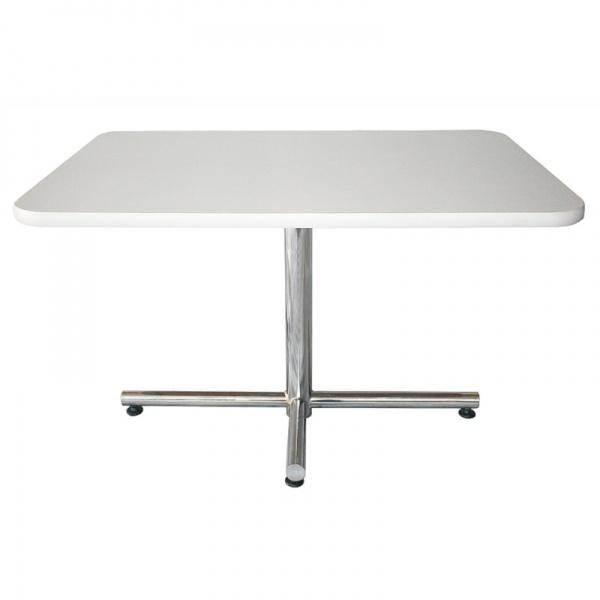 Mesa Rectangular Canto-PVC MERECTP-BCT para comedor industrial