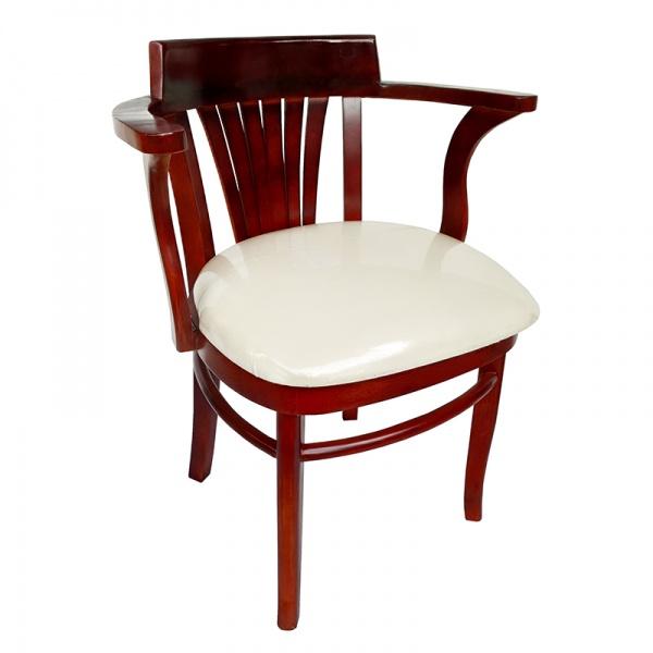 silla wc002 Silla de Madera para Restaurante WC002. Fabricada completamente en Madera con Descansabrazos. Asiento acojinado y tapizado. Los Colores de la Madera y Tapiz ya sea de Tela o Vinil son a elección del Cliente.