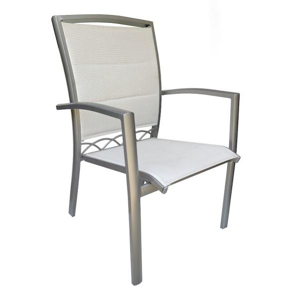 Silla de Aluminio y Textileno 314 para Restaurante y exteriores