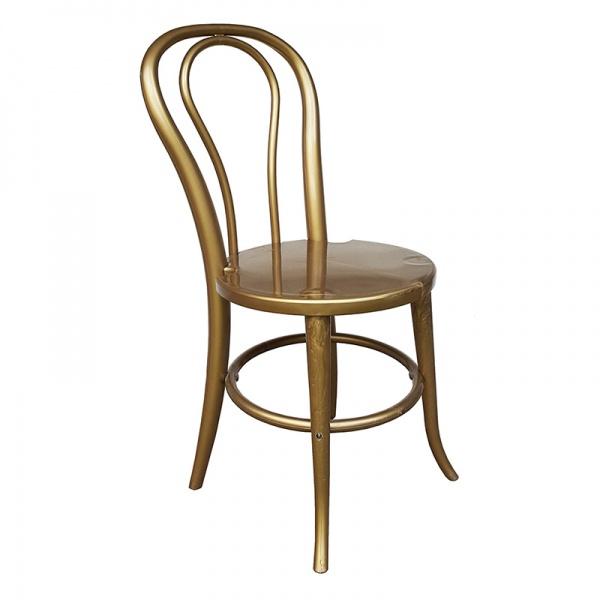 4014 oro Silla de Resina 4014. Fabricada en Resina de Alta Resistencia. Ideal para Eventos y Banquetes.  Colores: Oro y Negra.