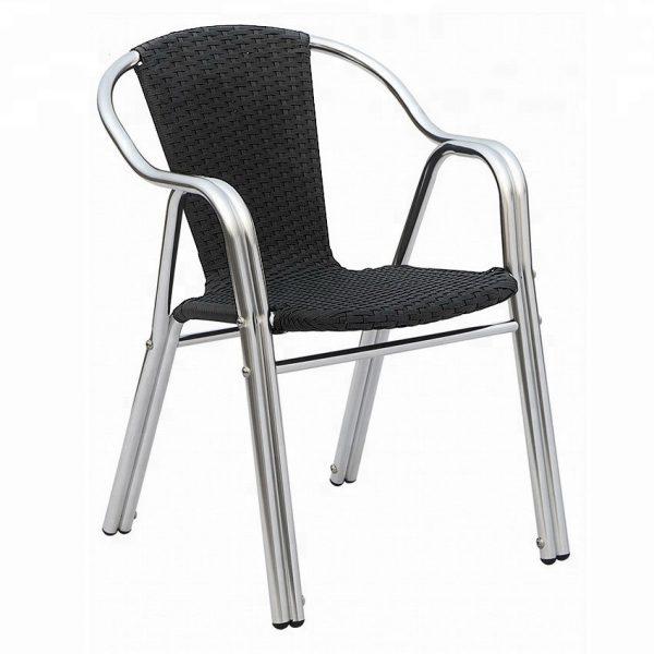Silla de Aluminio Tejida AT-6034 para restaurante y terrazas