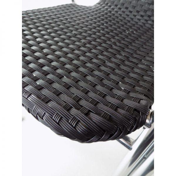 Detalle Silla de Aluminio Tejida AT-6034 para restaurante y terrazas