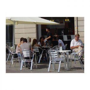 Silla de aluminio para restaurante y terraza DC-06004
