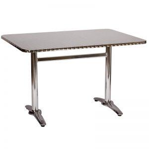 Mesa de Acero y Aluminio SST-TB06 para Restaurante