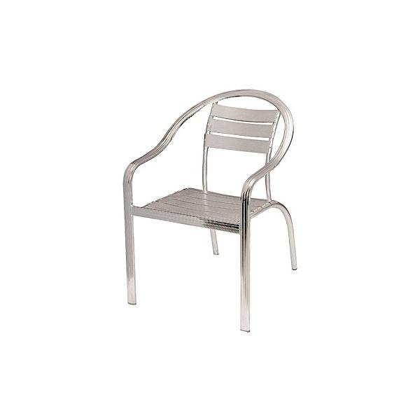 at 6012 3 Silla de Aluminio DC-06014 para Restaurante. Fabricada completamente en Aluminio de 1.3mm. Gracias a la naturaleza del aluminio, esta silla es apta para Intemperie. Pero igualmente luce formidable en Interiores. Ideal para Terrazas, Bares y Cafeterías.