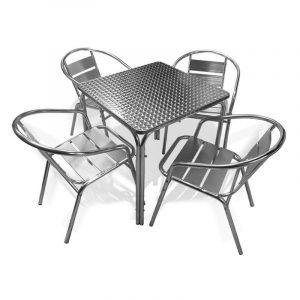 Mesa de Acero y Aluminio AT-7227 para Restaurante