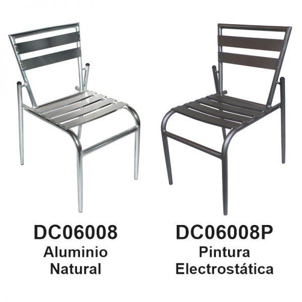 Silla de Aluminio DC-06008 DC-06008P para restaurante y terraza