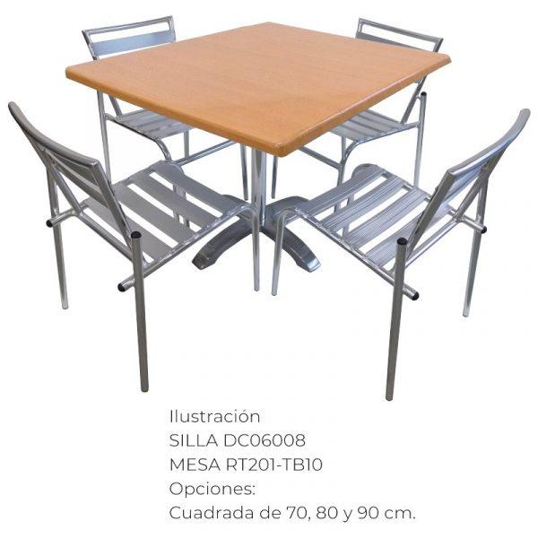 sillas y mesas para exterior de restaurante