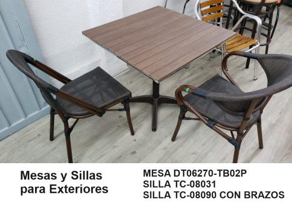 Mesas y Sillas para exterior de restaurante y cafeteria