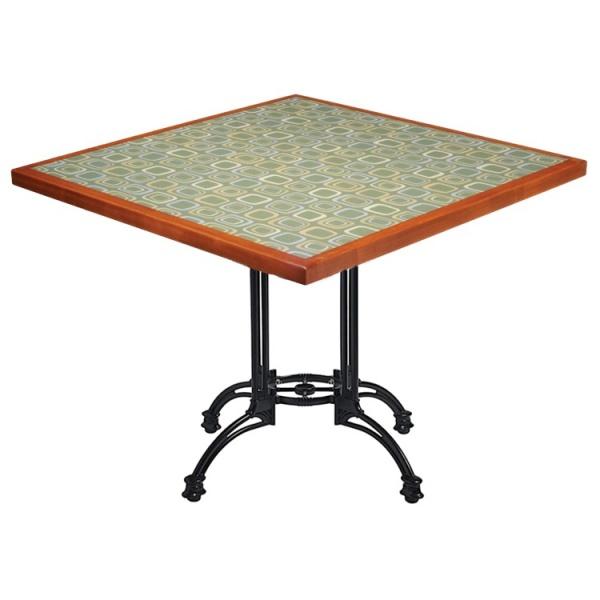 MECCM TB19 La base de mesa hierro fundido TB19 es ideal para mesas para restaurante hasta de 90 cms. Es una elegante base tipo hierro forjado de diseño clásico. Su esmalte es en Poliéster Electrostático, por lo tanto, le permite adaptarse a todo ambiente ya sea en interiores o exteriores. *Usted puede solicitar esta Base como complemento para cualquiera de las Mesas mostradas en nuestro sitio. Solo contáctenos. ** Modelo de Entrega Inmediata. Regresar a Bases de Mesa para Restaurante