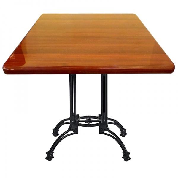 rt201 tb19 mahogany La base de mesa hierro fundido TB19 es ideal para mesas para restaurante hasta de 90 cms. Es una elegante base tipo hierro forjado de diseño clásico. Su esmalte es en Poliéster Electrostático, por lo tanto, le permite adaptarse a todo ambiente ya sea en interiores o exteriores. *Usted puede solicitar esta Base como complemento para cualquiera de las Mesas mostradas en nuestro sitio. Solo contáctenos. ** Modelo de Entrega Inmediata. Regresar a Bases de Mesa para Restaurante