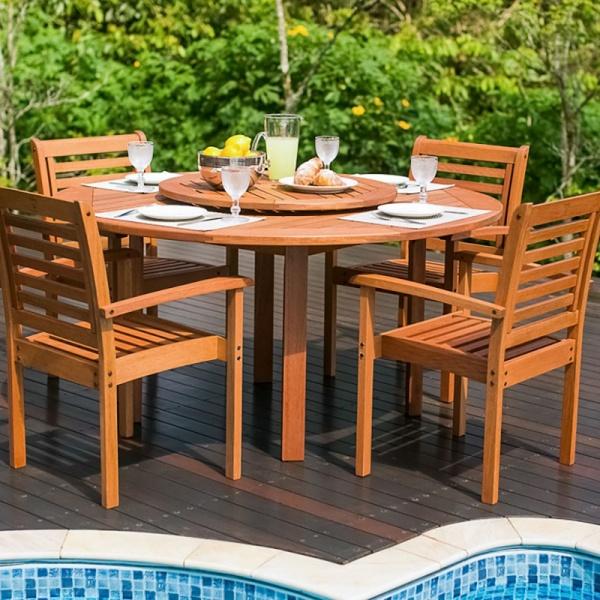 silla de madera para exteriores Bangú-Gr