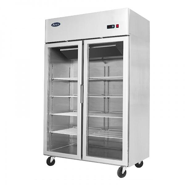 Refrigerador de Acero Inoxidable puerta de cristal MCF8605GR